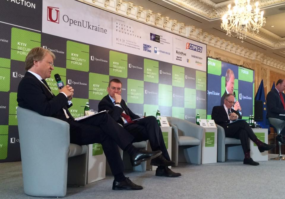 Speech given at the 9th annual 'Kiev Security Forum'